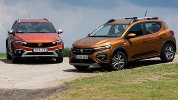 Összehasonlító tesz: Dacia Sandero Stepway 1.0 – Fiat Tipo Cross 1.0 – 2021.