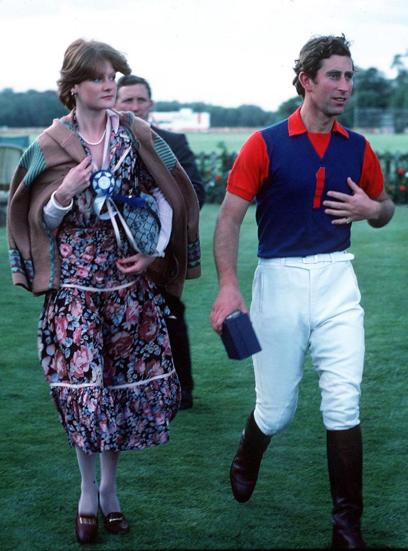 Sarah Spencer és Károly herceg 1977-ben. Nem tartott sokáig a kapcsolatuk.