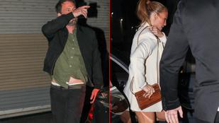 Fotósok és testőrök forgatagában érkezett vacsorázni Ben Affleck és Jennifer Lopez