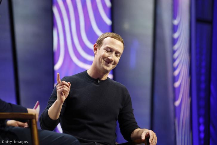 A Facebook alapítója, Mark Zuckerberg 2020 januárjában rendezett konferencián
