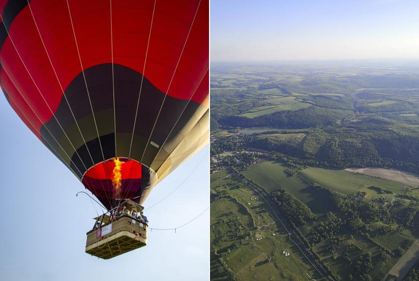Egyszer mindenképp érdemes egy hőlégballonnal a levegőbe emelkedni, és onnan is megcsodálni a zalai panorámát.