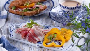 Egy remek nyári szendvics – grillezett camembert-rel, dinnyével és prosciuttóval a legfinomabb
