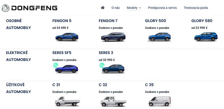 A szlovák kínálat most: az árral rendelkező autók már rendelhetők, a többi később jön. A teherautók is