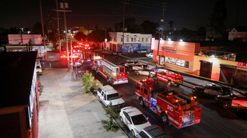 Felrobbant egy rendőrségi jármű Los Angelesben, 17-en megsérültek