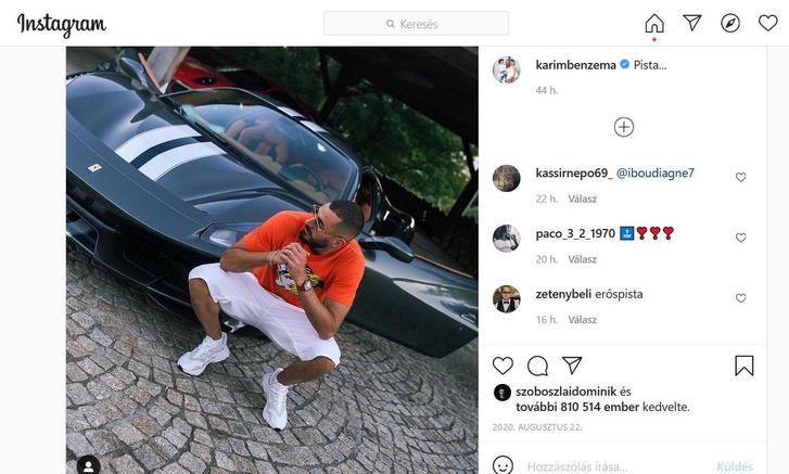 Benzema és régi barátja, Pista (forrás: Instagram)