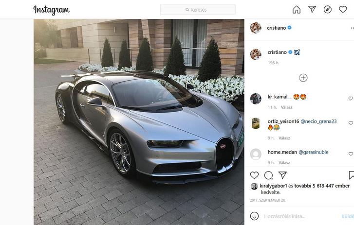 Chironja nemcsak neki van, ez már Cristiano Ronaldóé (forrás: Instagram)