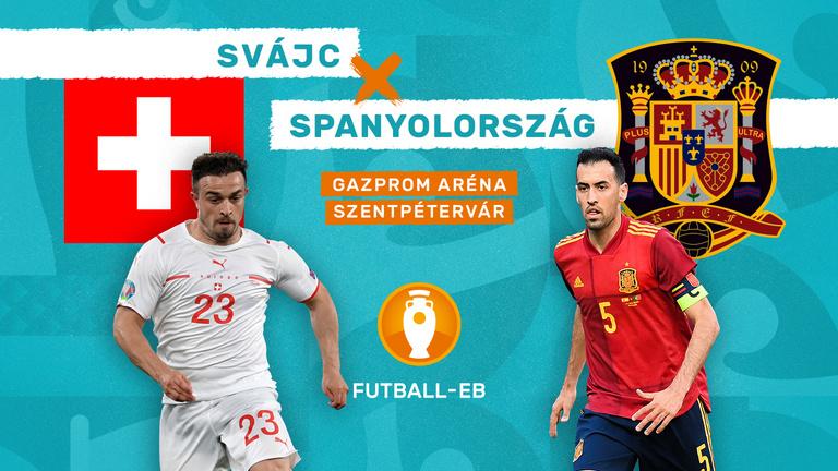Az Eb meglepetéscsapata újabb csodára készül: Svájc–Spanyolország