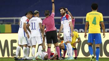 Brazília legyőzte Chilét a Copán, Vidal szerint egy bohóc vezette a meccset