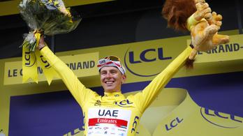 A címvédő Pogacar átvette a sárga trikót a Touron
