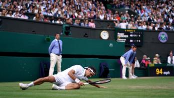 Botrány Wimbledonban: a pálya, ha nem is lejt, cserébe brutálisan csúszik