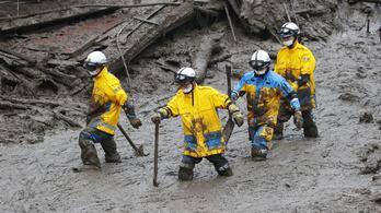 Száznál is több áldozata lehet a japán földcsuszamlásnak
