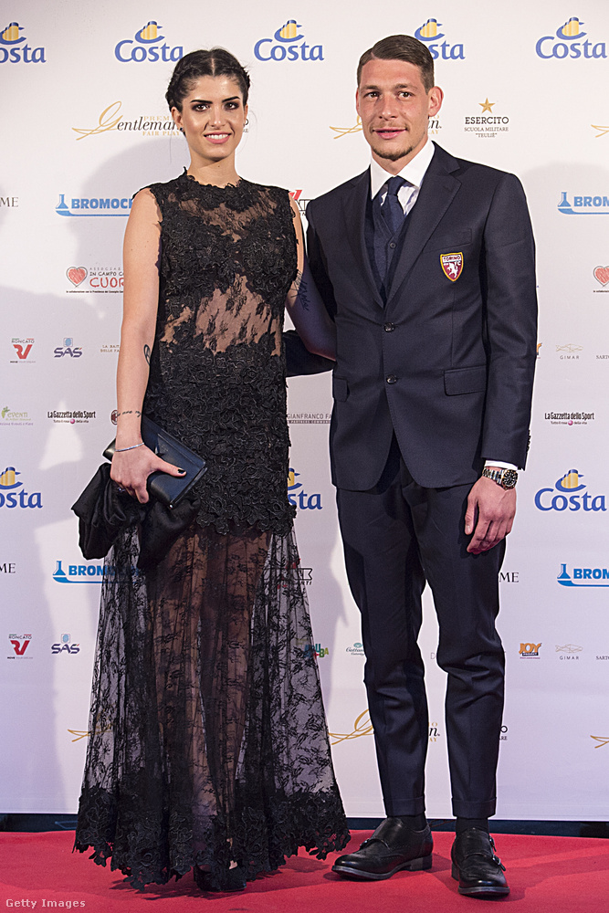 Andrea Belotti a következő, a 27 éves, olasz futballista 2017-ben vette feleségül Giorgia Durót (Duró Dórával csak névrokonok!), ez a kép egy évvel azután készült róluk
