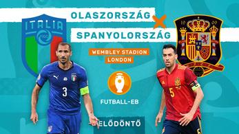 Tét az Eb-döntő: Olaszország–Spanyolország