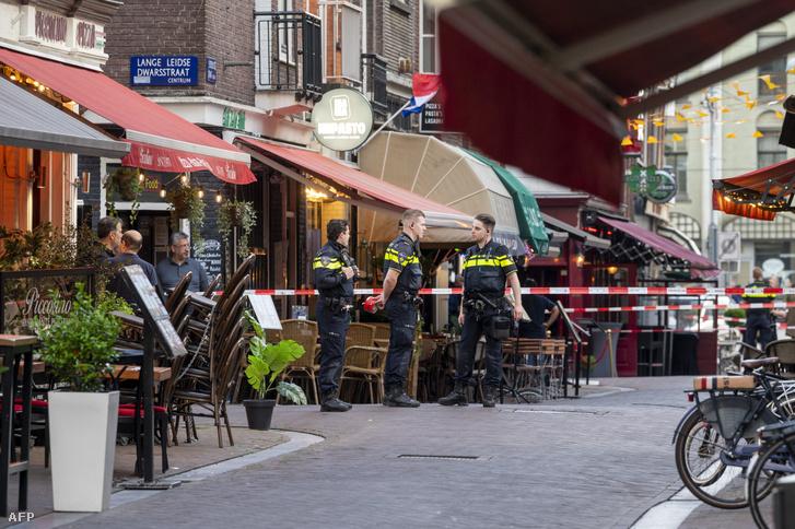 A merénylet helyszíne, a Lange Leidsedwarsstraat