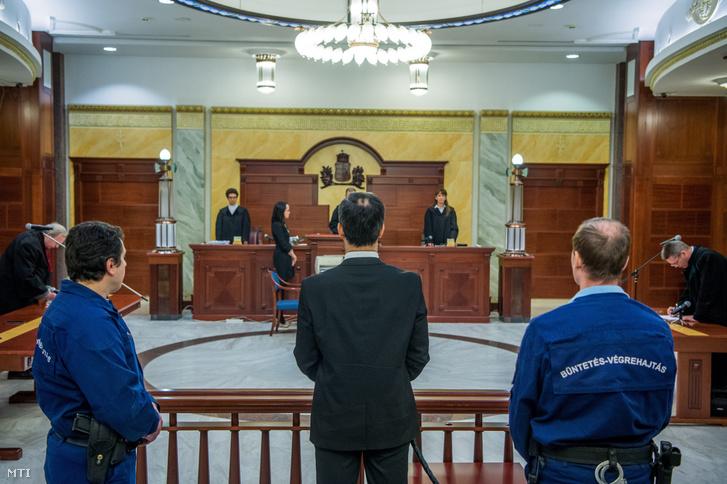 Bene Krisztián az ítélethirdetéskor, 2018-ban
