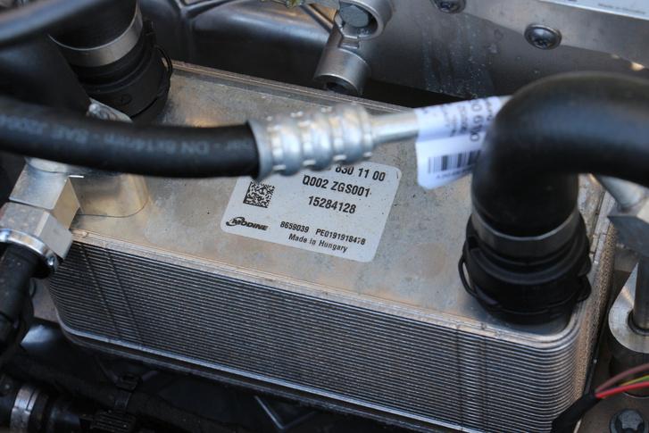 Egy hazai gyártású hőcserélő a motortérben