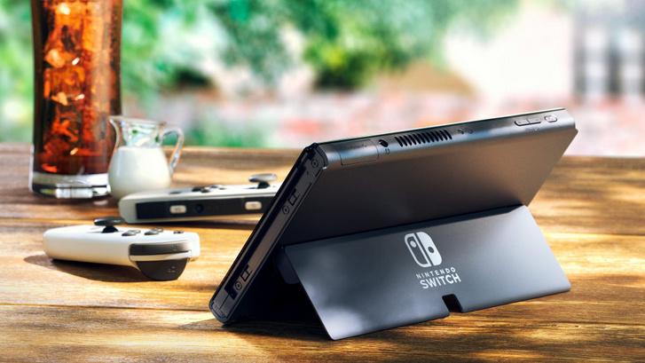 Nintendo Switch OLED kitámasztott
