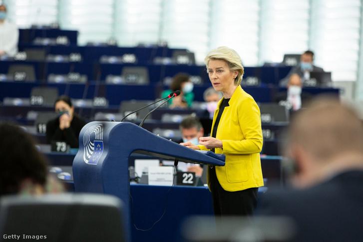 Ursula von der Leyen az Európai Parlament plenáris ülésén 2021. július 7-én
