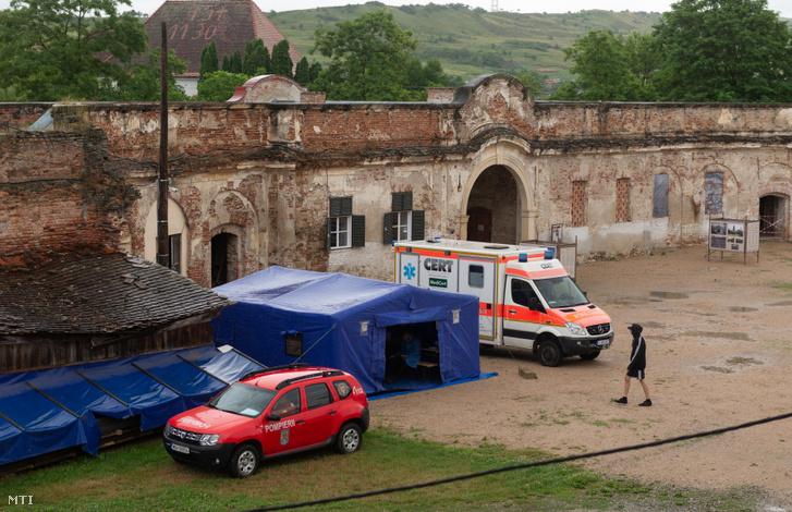 Oltópont a Kolozs megyei bonchidai Bánffy-kastélyban 2021. július 3-án