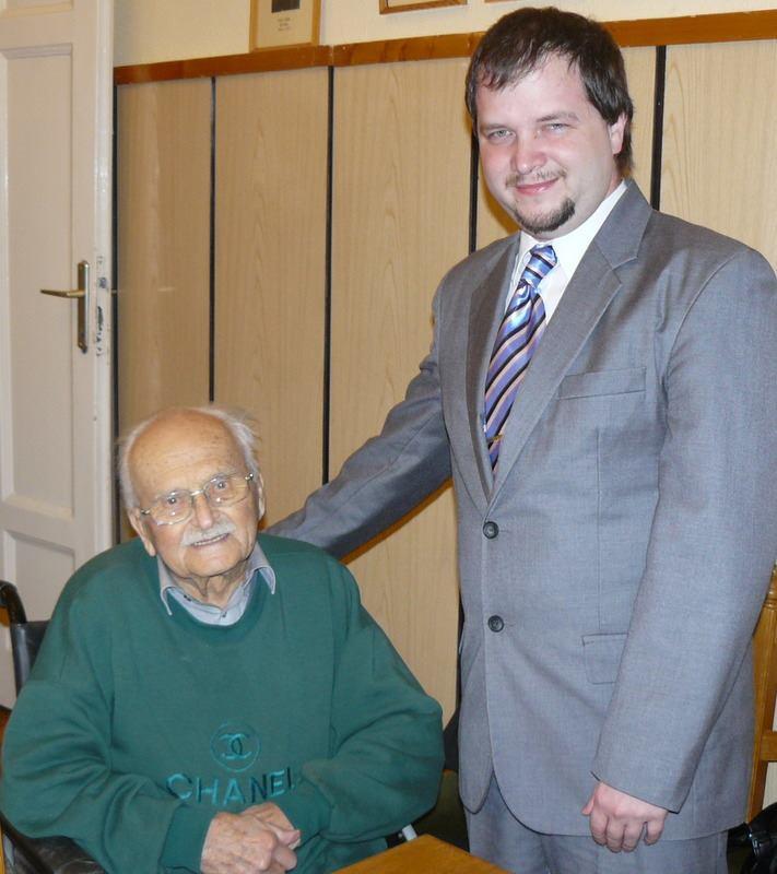 Bajkó Ferenc mesterével, dr. Patay Pállal