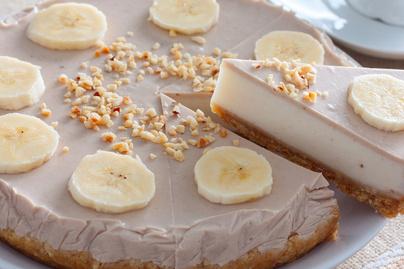 Habkönnyű banános sajttorta sütés nélkül: jó hidegen a legfinomabb