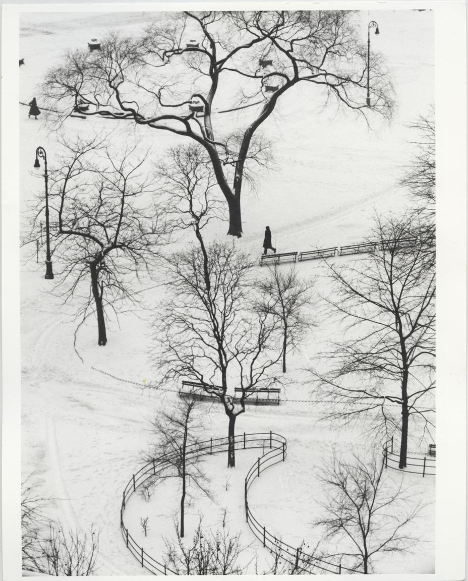 A Washington Square télen, New York, Egyesült Államok, 1970