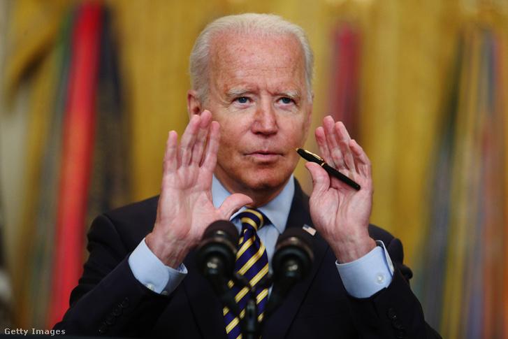 Joe Biden bejelenti az afganisztáni csapatkivonást a Fehér Házban 2021 július 8-án