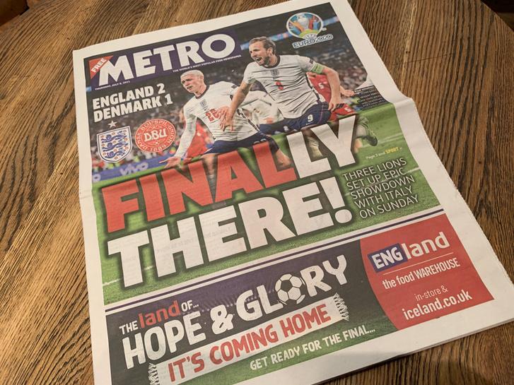 Végre döntő! – hirdeti címlapján az ingyenes Metro újság