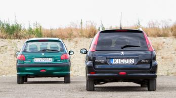 Eszi az önindítókat a Peugeot 206