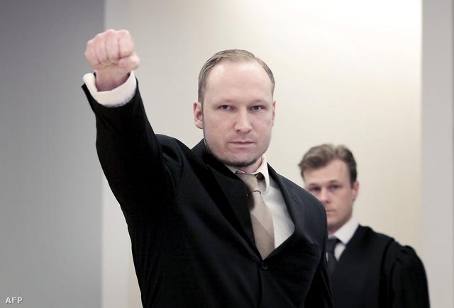 Breivik a tavalyi ítélethirdetéskor