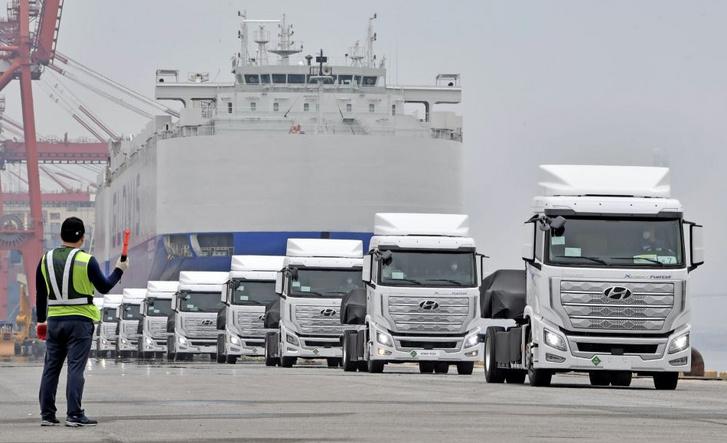A Hyundai első üzemanyagcellás teherautói