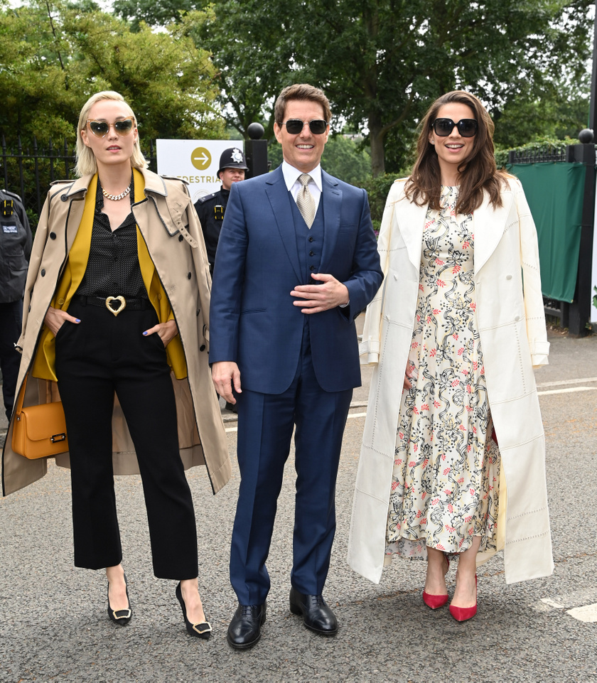 Pom Klementieff, Tom Cruise és Hayley Atwell.
