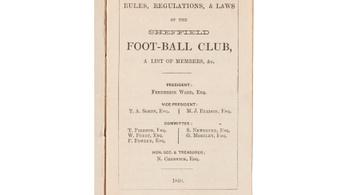 Ön is megveheti, eladó a futball első szabálykönyve