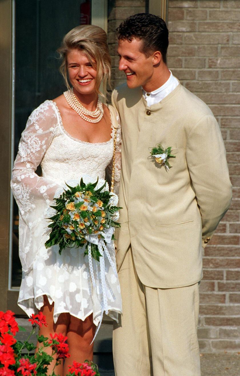 1995 nyarán keltek egybe Corinnával. A mosolyuk mindent elárul arról, mennyire boldogok voltak.