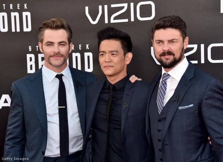 Chris Pine, John Cho és Karl Urban a legújabb Star Trek-filmek főszereplői.