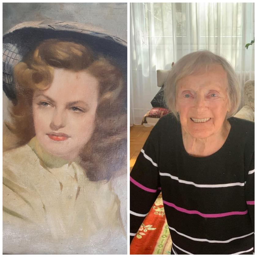 Rátonyi Hajni egy édesanyjáról fiatalon készült festményt és egy friss fotót osztott meg annak a születésnapja alkalmából. Annyi írt a montázshoz: DRÁGASÁG 94!