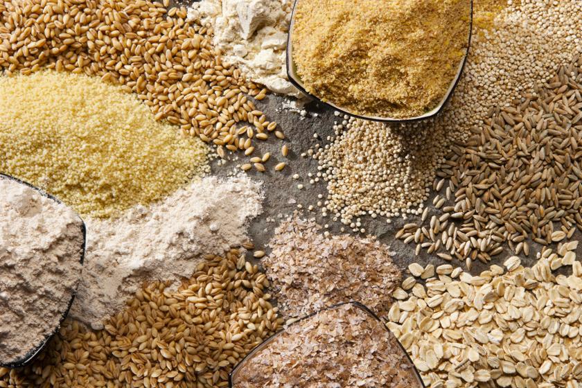 teljes kiőrlésű gabonák belső
