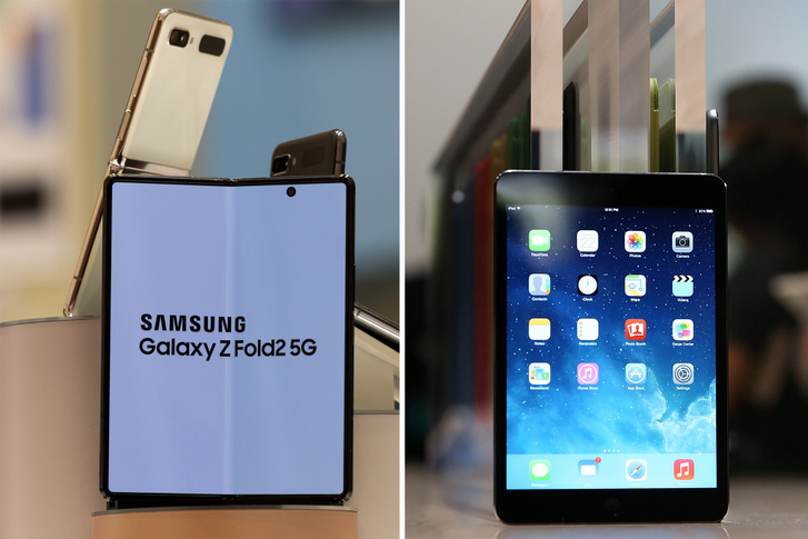 Samsung Galaxy Z Fold és iPad Mini