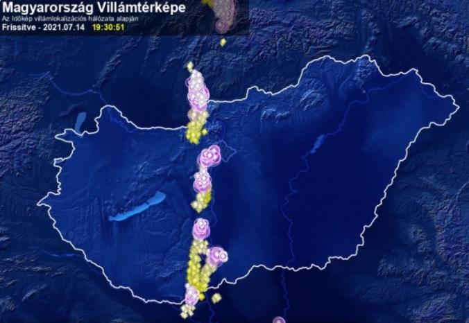 Magyarország villámtérképe