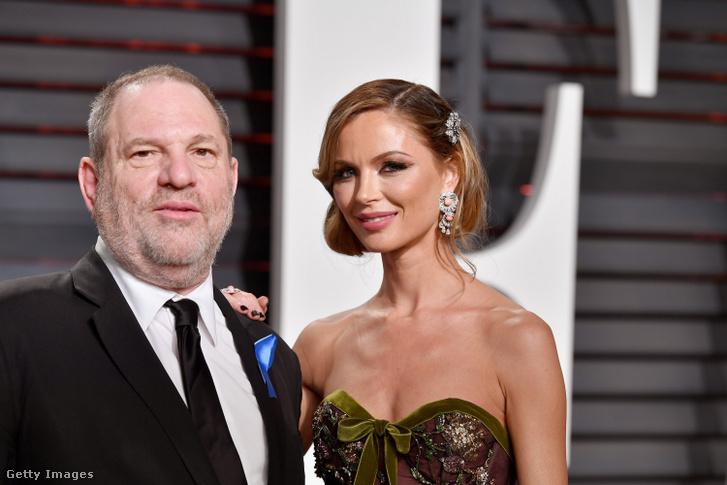 Harvey Weinstein és Georgina Chapman 2017. február 26-án