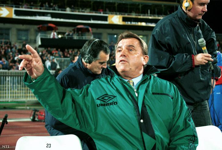 Mészöly Kálmán labdarúgó edző, szövetségi kapitány 1994. október 12-én