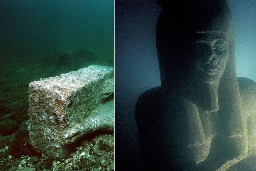 Romok, szobrok és számos régészeti különlegesség: Hérakleion városának maradványait 2000-ben fedezte fel Franck Goddio és az IEASM (Európai Tengeralatti Régészeti Intézet).