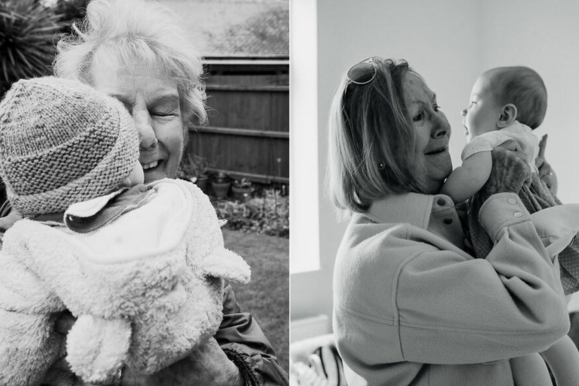 Ilyen, amikor egy nagyi először látja újszülött unokáját a karantén miatt: fotókon a megható pillanatok
