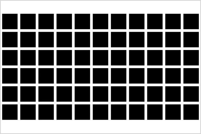 A Hermann-féle optikai illúzió.