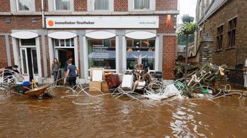 Két napig maradt egyedül egy magyar fiú az árvíz sújtotta Belgiumban