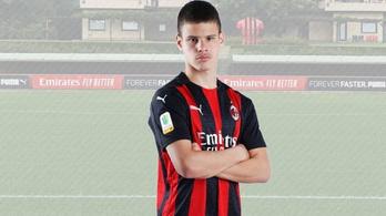 Kerkez Milos két góllal debütált az AC Milan felnőttcsapatában