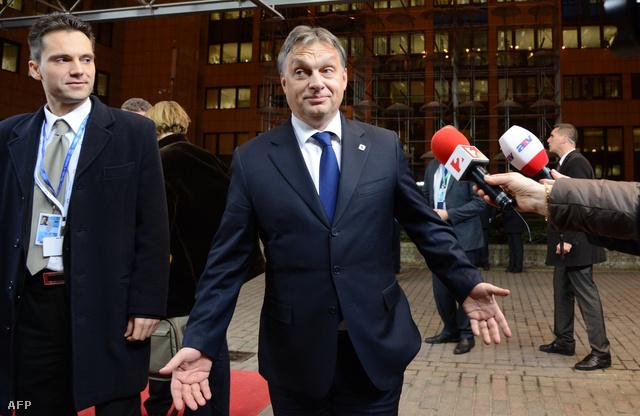 Orbán Viktor Brüsszelben, a 2012. decemberi EU csúcson