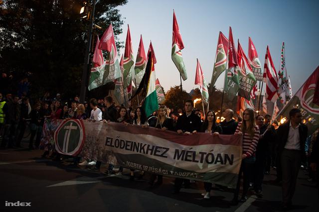 A Jobbik ifjúsági tagozatának október 23-i demonstrációja