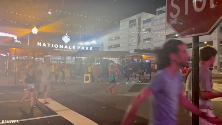 A lövöldözést követően a szurkolók elhagyták a stadiont