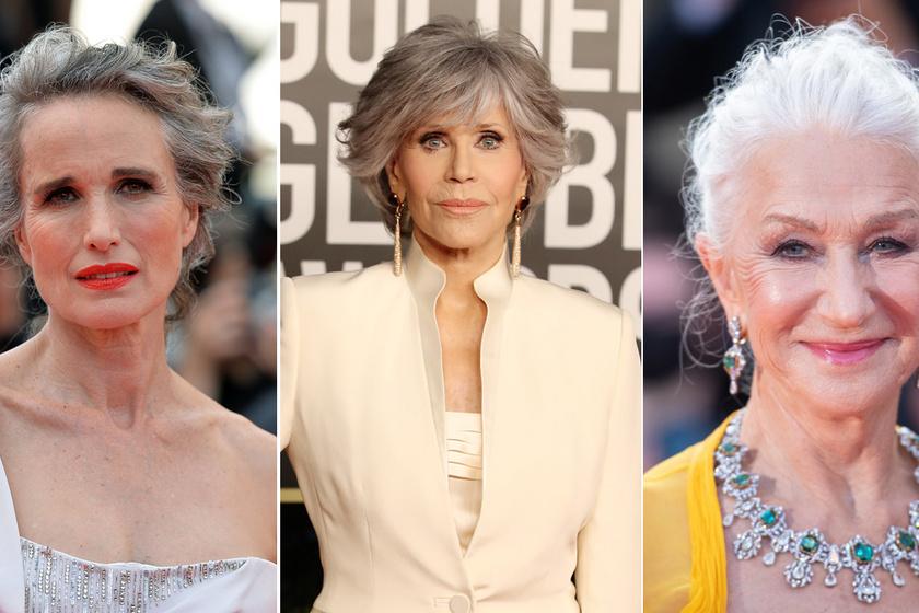 8 színésznő, aki büszkén mutatta meg ősz haját a vörös szőnyegen: mesésen festettek természetes hajszínükkel